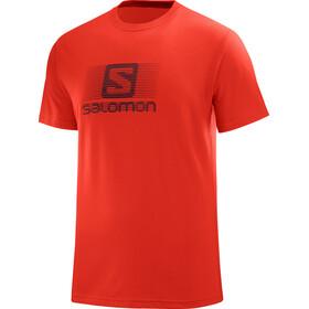 Salomon Blend Logo Bluzka z krótkim rękawem Mężczyźni czerwony
